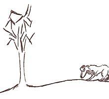 Wolf stalking Tree. by BlackDogAura