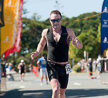 Kingscliff Triathlon 2011 Finish line B6202 by Gavin Lardner