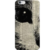Cute Cat,Lovely Kitten Stencil Over Old Book Page iPhone Case/Skin