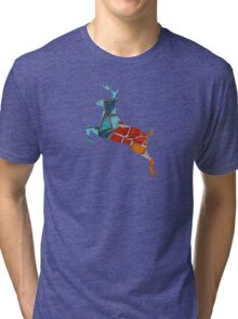 Red or Aqua - JUSTART © Tri-blend T-Shirt