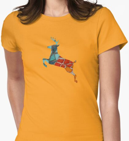 Red or Aqua - JUSTART © Womens Fitted T-Shirt
