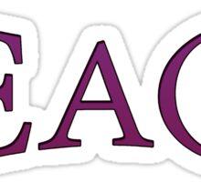 Teach Peace -Purple Sticker