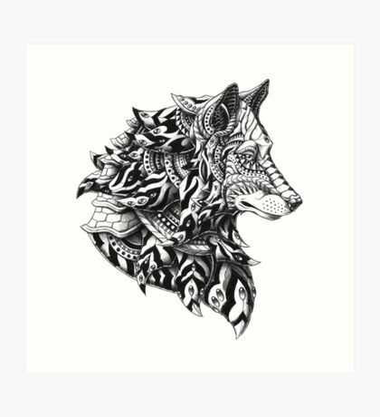 Wolf Profile Art Print