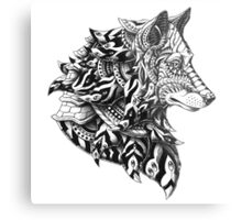 Wolf Profile Metal Print