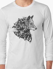 Wolf Profile Long Sleeve T-Shirt