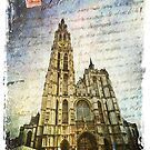 Cathedral of Our Lady, Antwerp, Belgium | Forgotten Postcard by Alison Cornford-Matheson