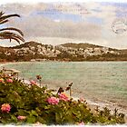 Vouliagmeni, Greece  Forgotten Postcard by Alison Cornford-Matheson
