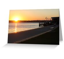 Last shadows of day Greeting Card