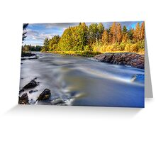 Colors Kiiminki on the river Greeting Card