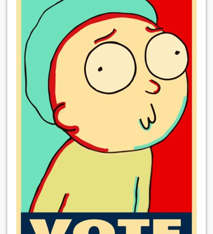 "Rick and Morty ""Vote for Morty"" Sticker"