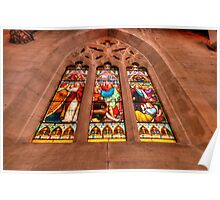 Stained Glass #1 - St Saviours Cathedral c1883 Goulburn - The HDR Experience Poster