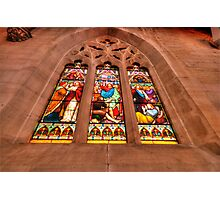 Stained Glass #1 - St Saviours Cathedral c1883 Goulburn - The HDR Experience Photographic Print