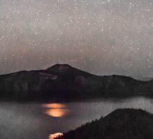 Blood Moon Over Crater Lake Sticker