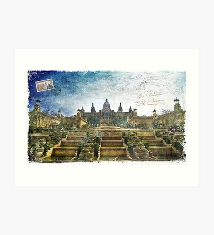 Palau Nacional, Barcelona, Spain | Forgotten Postcard Art Print