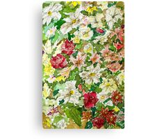 Flowers in Watercolours Canvas Print