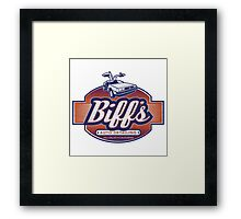 Biff's Auto-Dealing Framed Print
