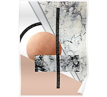 Collage II ( marble, copper, volcanic rock) Poster