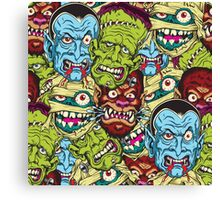 Movie Monsters Canvas Print