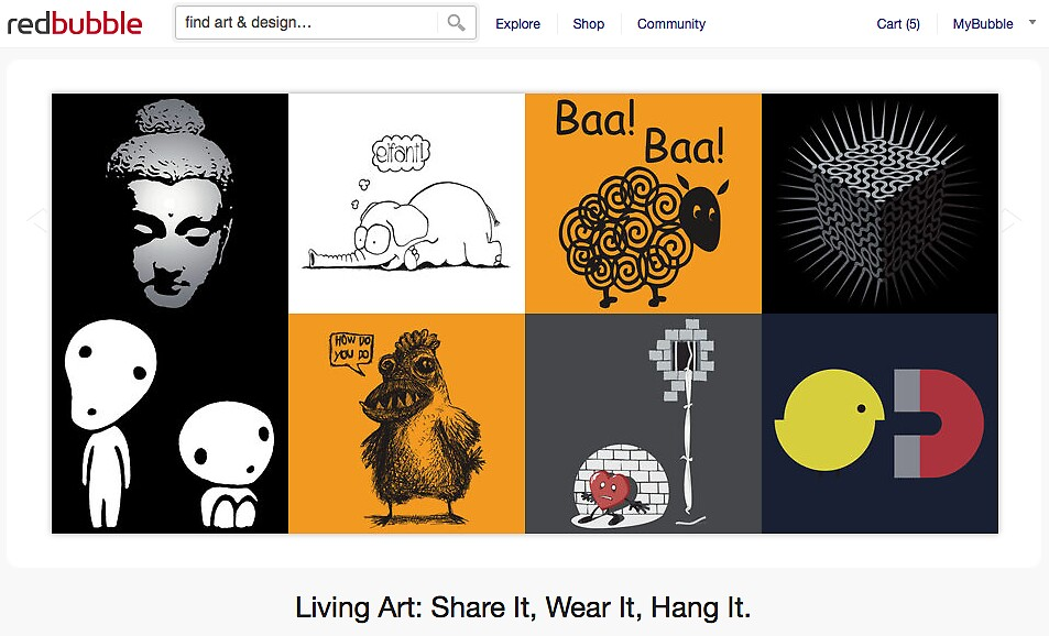 23 September 2011 by The RedBubble Homepage