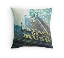 Movie theatre in Madrid Throw Pillow