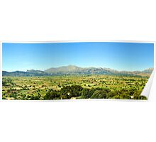 Panoramic valley. Poster