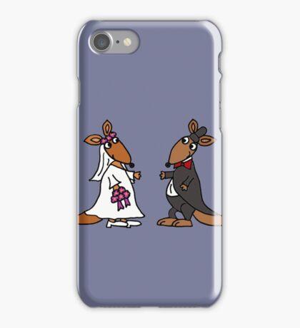 Awesome Bride and Groom Kangaroo Art Original iPhone Case/Skin