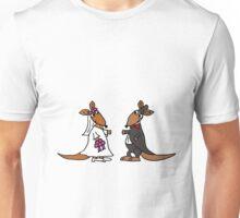 Awesome Bride and Groom Kangaroo Art Original Unisex T-Shirt