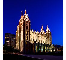 A Night at the Salt Lake Temple Photographic Print