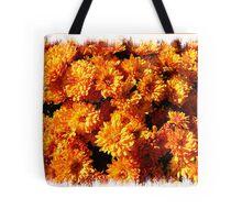 Fall Autumn Colors - Orange Chrysanthemums - Flowers in Sunlight Tote Bag