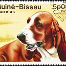 Basset dog stamp. by FER737NG