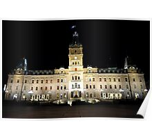 Quebec Parliament. Poster