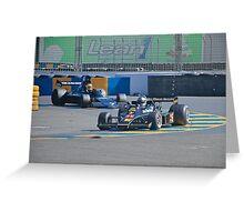 Vintage Formula 1 Racecars Greeting Card