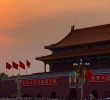 Sunset over the Forbidden City Sticker
