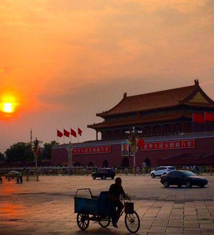 Sunset over the Forbidden City Sticker