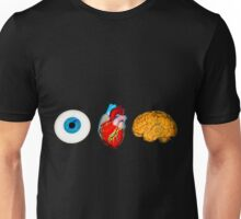 I love Brains,eye,heart,brains, zombie need to feed Unisex T-Shirt