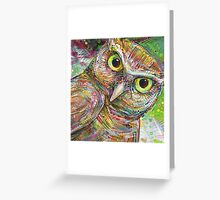 The owl painting - 2014 Greeting Card