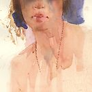 watercolour with the model by djones