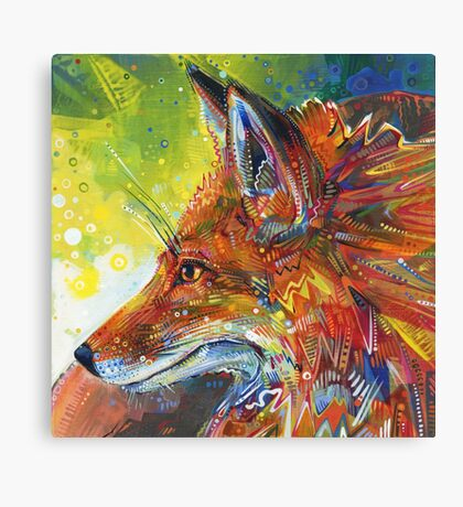 Red fox painting - 2012 Canvas Print