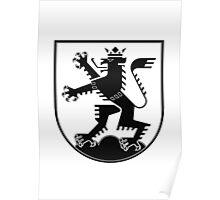The Lion of Heidelberg (black on white) Poster