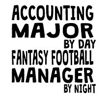 Statistics Major Fantasy Football Photographic Print