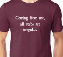 Irregular Verbs Unisex T-Shirt