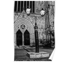 Lamp By York Minster Poster