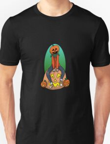 Pumpkin Kid on a Pumpkin Leaf Bag T-Shirt