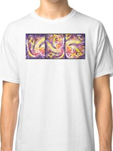 French Curve Abstract  Triptych Classic T-Shirt