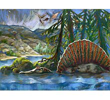 Spinosaurus in the water Photographic Print