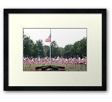 Half Staff Framed Print