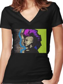 Punk Toxic Women's Fitted V-Neck T-Shirt