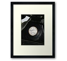 WW2 black telephone Framed Print