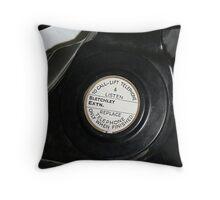 WW2 black telephone Throw Pillow