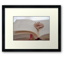 Say it with a flower Framed Print
